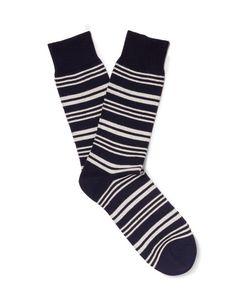 Oliver Spencer Loungewear | Hinton Striped Cotton-Blend Socks