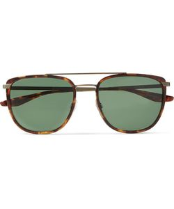 BARTON PERREIRA   Lafayette Aviator-Style Acetate And Tone Sunglasses