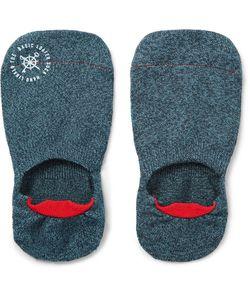Mr. Gray   Mélange Stretch-Knit No-Show Socks