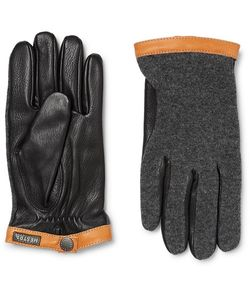 Hestra | Tricot-Panelled Leather Gloves