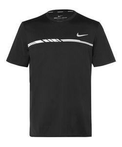 Nike Tennis | Court Dry Challenger Printed Dri-Fit Mesh Tennis T-Shirt