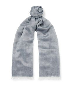 Begg & Co | Staffa Cashmere And Silk-Blend Scarf