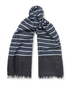 Begg & Co | Staffa Striped Cashmere And Silk-Blend Scarf