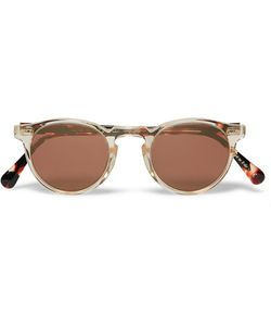 Oliver Peoples | Gregory Peck Round-Frame Acetate Sunglasses