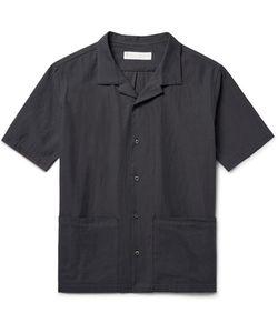Private White V.C.   Camp-Collar Cotton Shirt