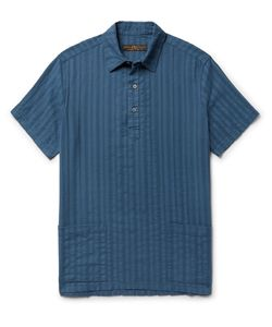 Freemans Sporting Club | Embroidered Cotton-Gauze Shirt