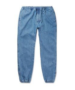 Beams   Tapered Denim Drawstring Trousers