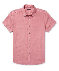 Theory | Clark Slim-Fit Garment-Dyed Linen Shirt