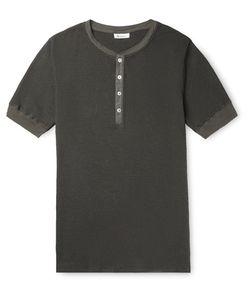 Schiesser | Karl Heinz Striped Cotton-Jersey Henley T-Shirt