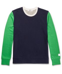 Aloye | G.F.G.S. Slim-Fit Colour-Block Cotton And Yak-Blend Sweater