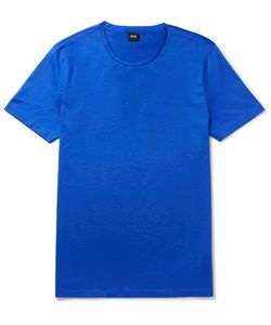 HUGO BOSS | Slim-Fit Mercerised Cotton-Jersey T-Shirt
