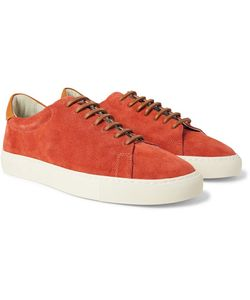 RICHARD JAMES | Paragon Leather-Trimmed Suede Sneakers