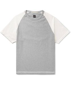 Albam | Two-Tone Cotton-Jersey T-Shirt