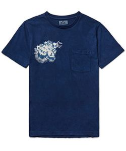 Blue Blue Japan | Printed Dyed Cotton-Jersey T-Shirt