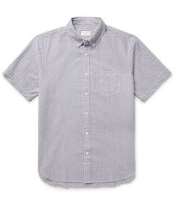 Club Monaco | Button-Down Collar Cotton-Seersucker Shirt