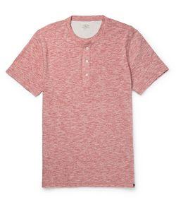 Faherty | Slim-Fit Mélange Cotton-Blend Jersey Henley T-Shirt
