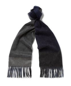 Begg & Co | Fringed Checked Cashmere Scarf