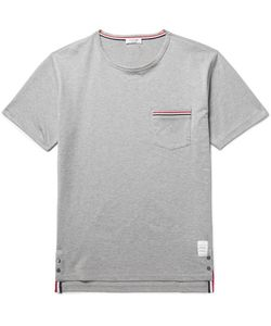 Thom Browne | Slim-Fit Grosgrain-Trimmed Cotton-Jersey T-Shirt