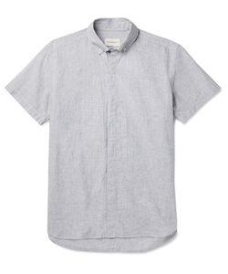 Oliver Spencer | Aston Button-Down Collar Cotton And Linen-Blend Shirt