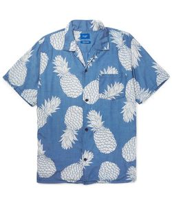 Beams | Aloha Camp-Collar Pineapple-Print Voile Shirt