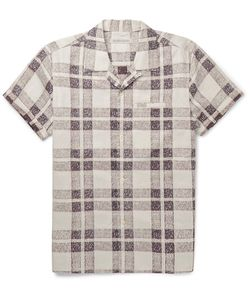 OUTERKNOWN | Camp-Collar Checked Organic-Cotton Shirt