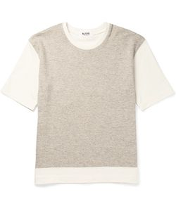Aloye | G.F.G.. Colour-Block Knitted Cotton And Yak-Blend T-Shirt