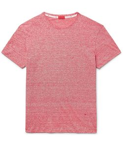Isaia | Space-Dyed Linen And Cotton-Blend T-Shirt
