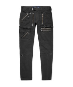 Blackmeans | Skinny-Fit Zip-Detailed Cotton-Canvas Trousers