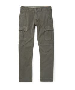 JEAN SHOP | Gene Slim-Fit Selvedge Cotton-Twill Cargo Trousers