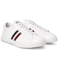 Moncler | Monaco Striped Leather Sneakers
