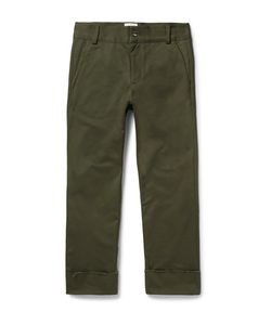 SIMON MILLER | Frayed Cotton-Twill Trousers