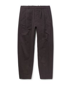 Fanmail | Tape Pleated Organic Cotton Trousers