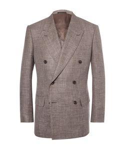 Kingsman | Harry Double-Breasted Slub Wool Silk And Linen-Blend Blazer