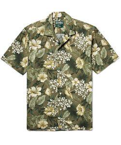 Gitman Vintage | Camp-Collar Print Cotton Shirt