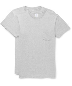 Velva Sheen | Two-Pack Mélange Cotton-Blend Jersey T-Shirts