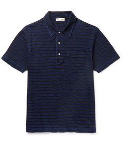 ALEX MILL | Striped Slub Cotton-Jersey Polo Shirt