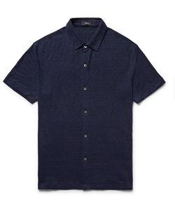 Theory | Slim-Fit Slub Linen Shirt