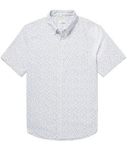 Club Monaco | Button-Down Collar Print Cotton Oxford Shirt