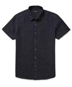Theory | Clark Garment-Dyed Slub Linen Shirt
