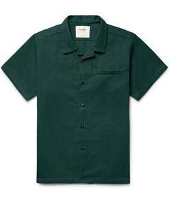 Noon Goons | Slim-Fit Camp-Collar Cotton-Twill Shirt