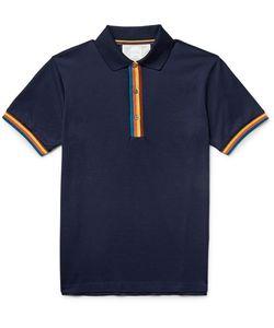 Paul Smith | Slim-Fit Contrast-Tipped Cotton-Piqué Polo Shirt