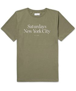 SATURDAYS NYC | Miller Standard Printed Cotton-Jersey T-Shirt