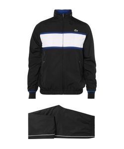 Lacoste Tennis | Stripe Shell Hooded Tracksuit