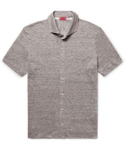 Isaia   Mélange Linen Shirt