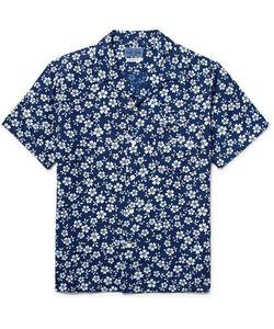 Blue Blue Japan | Camp-Collar Indigo-Dyed Print Woven Shirt Storm