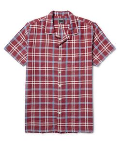 TODD SNYDER | Camp-Collar Checked Linen Shirt