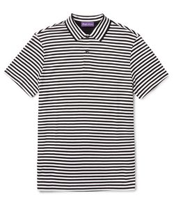 Ralph Lauren Purple | Label Striped Pima Cotton-Jersey Polo-Shirt