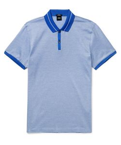 HUGO BOSS | Slim-Fit Striped Cotton-Jersey Polo Shirt