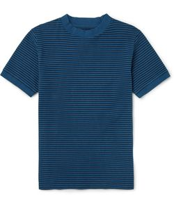 Blue Blue Japan | Striped Cotton-Blend Jersey T-Shirt
