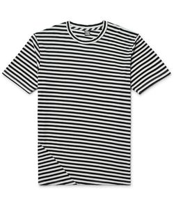 Freemans Sporting Club | Striped Cotton And Modal-Blend Jersey T-Shirt